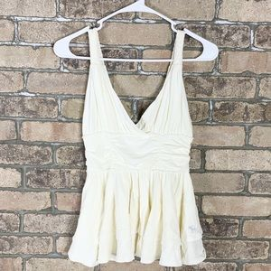 Abercrombie & Fitch size XS white sleeveless top